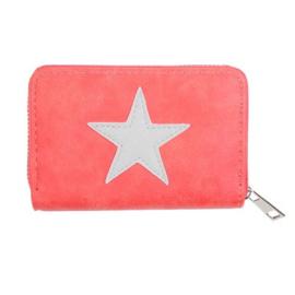 Portemonnee small ster oranje/rood