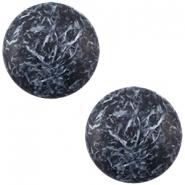Slider zilver met cabochon feltro matt dark blue