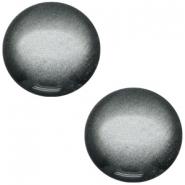 Slider zilver met cabochon soft tone shiny silver black