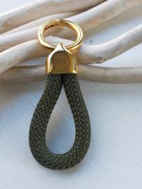 Sleutel/tas hanger opa goud