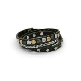 armband star wrap antraciet