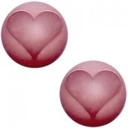 Slider zilver met cabochon hart matt antique pink