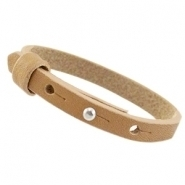 Cuoio armband mustard brown