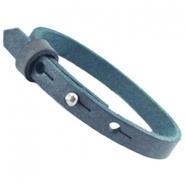 Cuoio armband mist blue