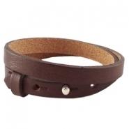 Cuoio armband dubbel chocolat bruin