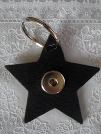 Sleutel/tas hanger ster esb. zwart                    th008