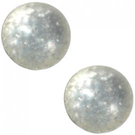 Slider zilver met cabochon paipolas matt silk beige