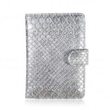 Paspoort hoesje croco zilver
