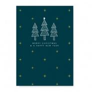 Sieradenkaart  Merry Christmas kerstbomen