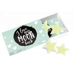 """Greeting box """"i love you to the moon and back"""""""