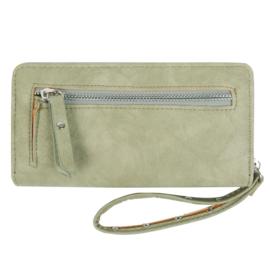 Portemonnee trend zipper groen