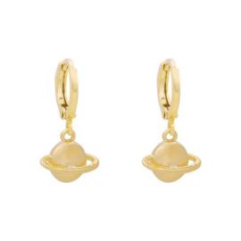 oorbellen gold plated Saturn