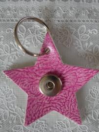 Sleutel/tas hanger ster douro roze                    th099