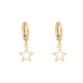 oorbellen gold plated ster open