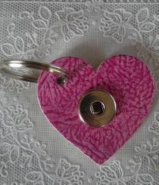 Sleutel/tas hanger hart douro roze                    th098