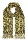 Sjaal plain Leopard camel