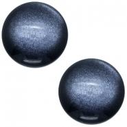 Slider zilver met cabochon soft tone shiny montana blue