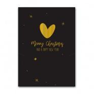 Sieradenkaart Merry Christmas hart