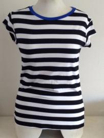 Shirt streep blauw/wit