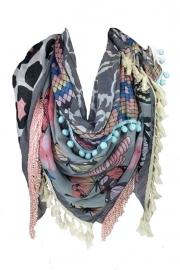Sjaal vlinder grijs
