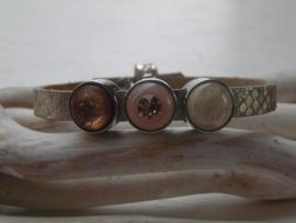 Cuoio armband  snake metallic Swarovski