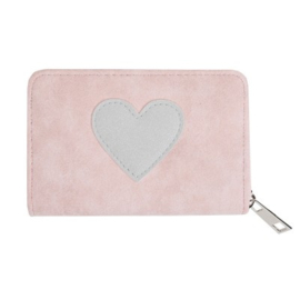 Portemonnee small hart roze
