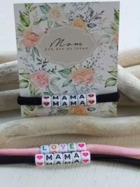 Mama armbandje van Ibiza stiched elastisch lint