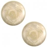 Slider zilver met cabochon jais alsmondine brown