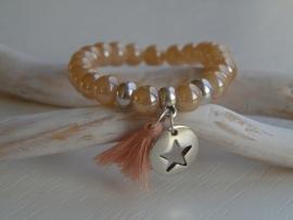 Kralen armband aztec bruin