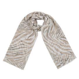 Sjaal hello zebra beige