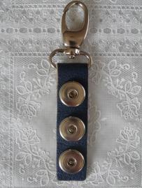 sleutel/tashanger 3 drukkers blauw   sh046