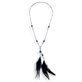 Lange ketting veren zwart