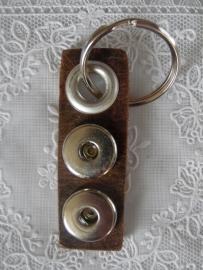 Sleutel/tas hanger 2 drukkers navarro naturel sh004