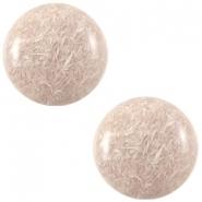 Slider zilver met cabochon feltro shiny beige
