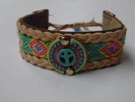 Leren armband Ibiza