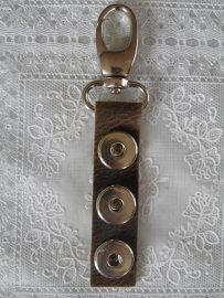 sleutel/tashanger 3 drukkers Navaro naturel   sh037