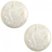 Slider zilver met cabochon jais beige