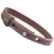 Cuoio armband chocolato brown