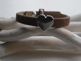 Cuoio armband classic  met schuiver