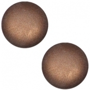 Slider zilver met cabochon soft tone matt dark brown