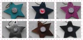 Sleutel/tashanger  Valentijn ster