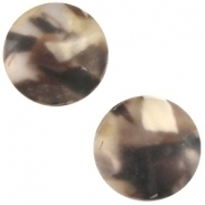 Slider zilver met cabochon tuareq matt crystal bruin