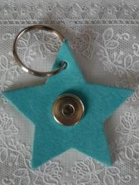 Sleutel/tas hanger ster donker tuquoise nubuck              th102