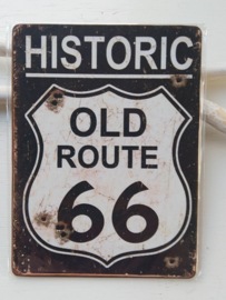 "Tekstbord ""old route 66"""