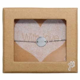Giftbox stainless steel armbandje love