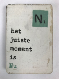 "Magneet hout ""Nu"""