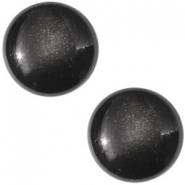 Slider zilver met cabochon centroperla black