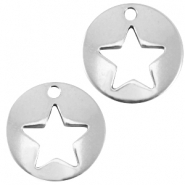 DQ metalen bedel rond ster