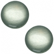 Slider zilver met cabochon soft tone shiny green grey