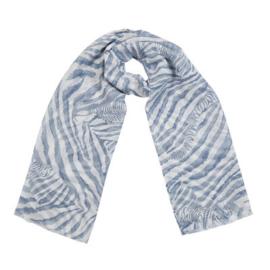 Sjaal hello zebra blauw